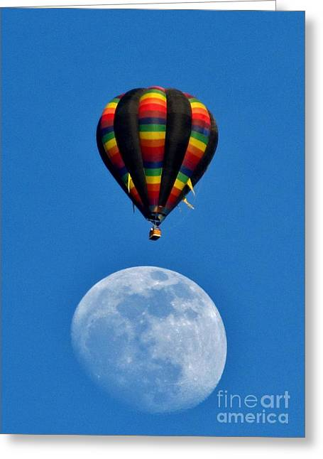 Moon Landing Greeting Card by Marilyn Smith