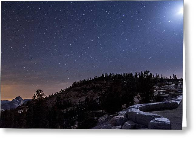 Moon Light At Olmstead Point Greeting Card by Cat Connor