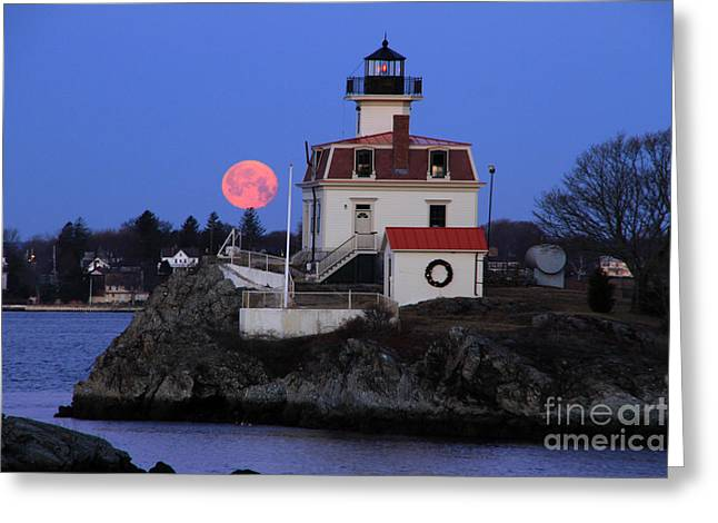 Moon-light Greeting Card by Butch Lombardi