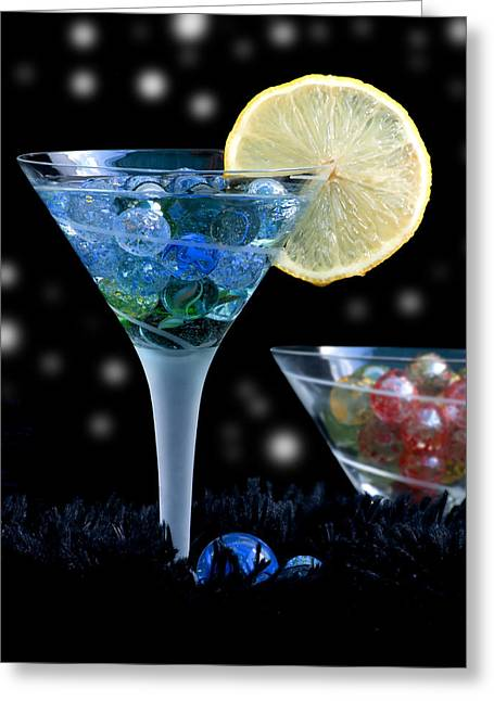 Moon Light Cocktail Lemon Flavour With Stars 1 Greeting Card by Pedro Cardona