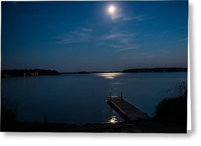 Moon Light Reflections Greeting Card by Paul Freidlund