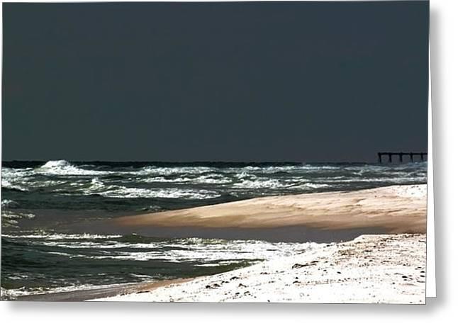 Moon Lit Beach Greeting Card