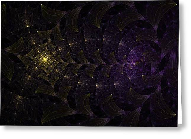 Moon Lit Path Greeting Card by Jhoy E Meade