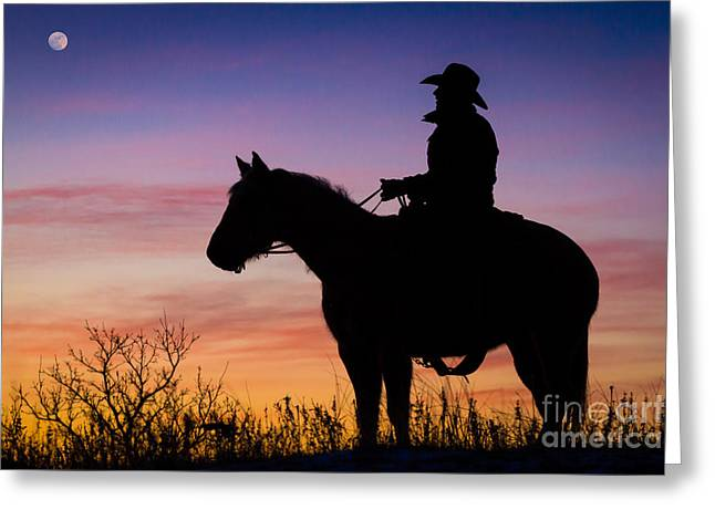 Moon On The Range Greeting Card by Inge Johnsson