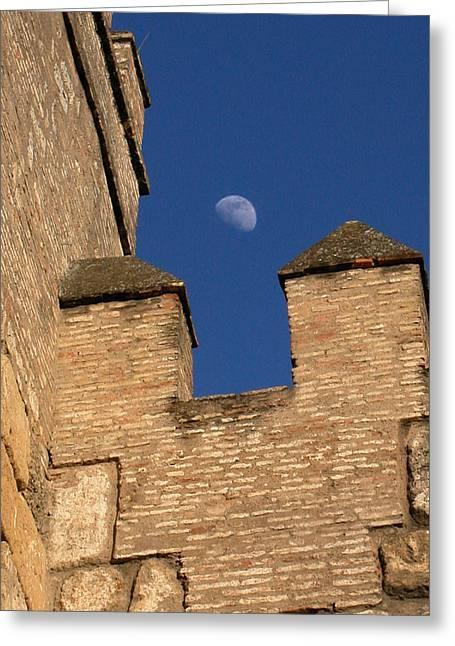 Moon Over Alcazar Greeting Card
