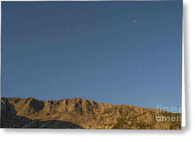 Moon Over Baxter Peak Greeting Card by Alana Ranney
