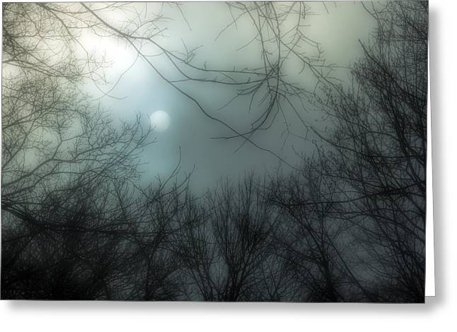Moon Over Billy Goat Trail Greeting Card by Francis Sullivan