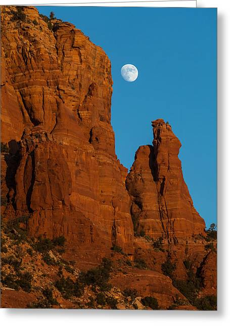 Moon Over Chicken Point Greeting Card