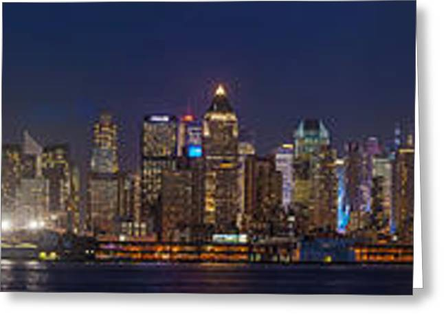Moon Over Manhattan Greeting Card