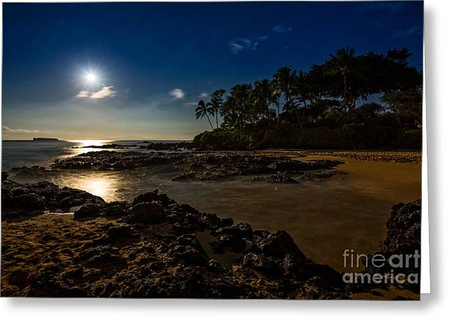 Moon Over Maui Greeting Card