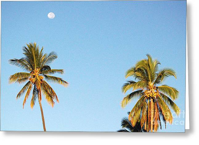 Moon Over Molokai Greeting Card