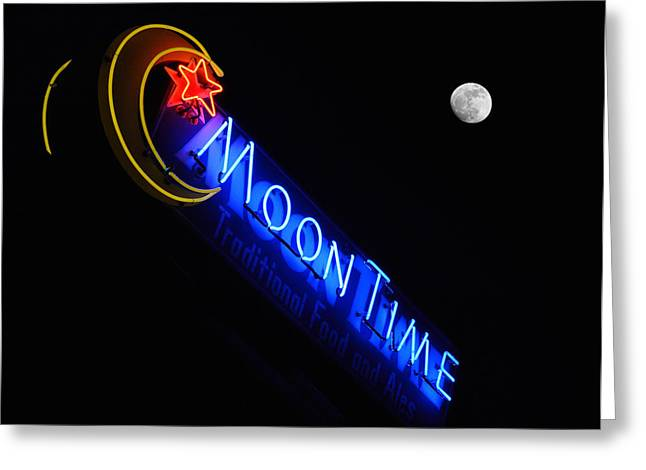 Moon Over Moon Time Greeting Card