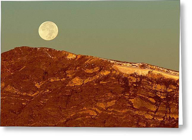 Moon Over Mount Ida Greeting Card by Eric Glaser