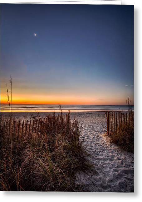 Moon Over Myrtle Beach Greeting Card