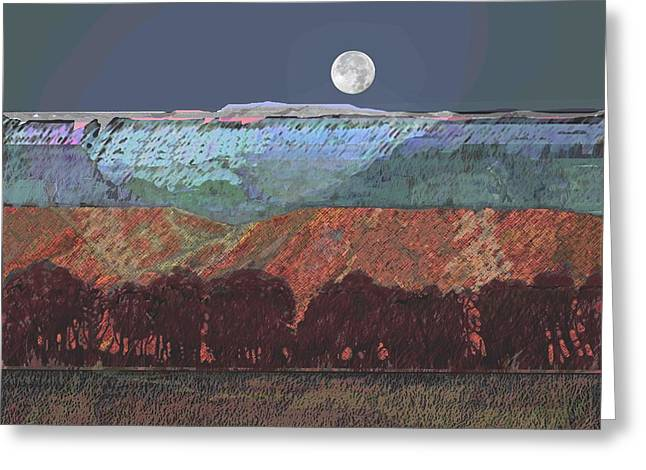 Moon Over Southern Utah Greeting Card by Roger Bushman