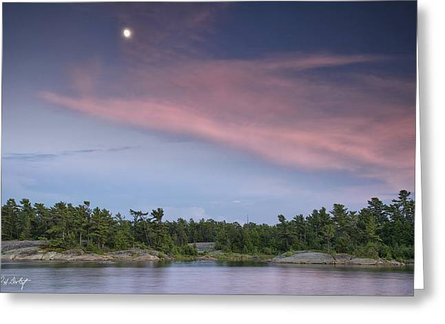 Moon Over The Bay Greeting Card by Phill Doherty
