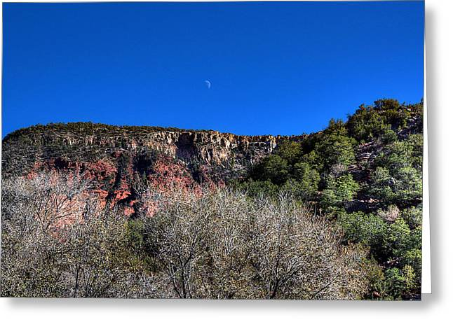 Moon Over The Mesa Greeting Card