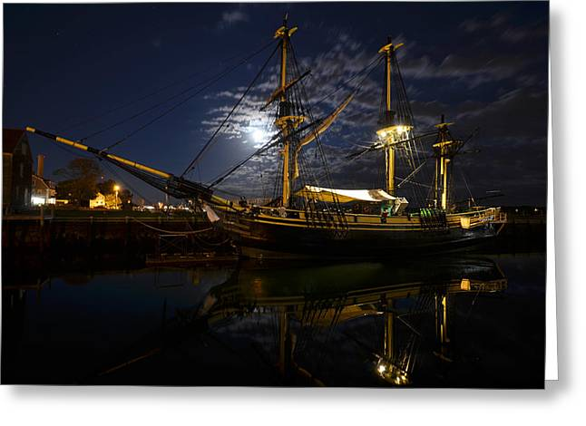 Moon Over The Salem Friendship Greeting Card by Toby McGuire
