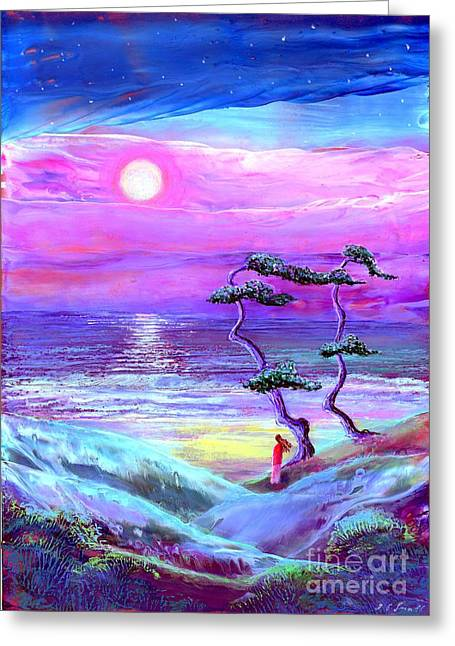 Moon Pathway,seascape Greeting Card