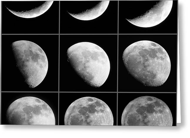 Moon Progression Greeting Card