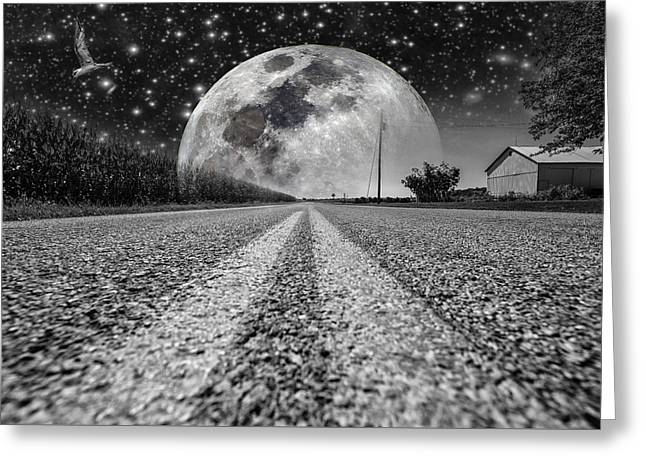 Moon Rise Country  Greeting Card