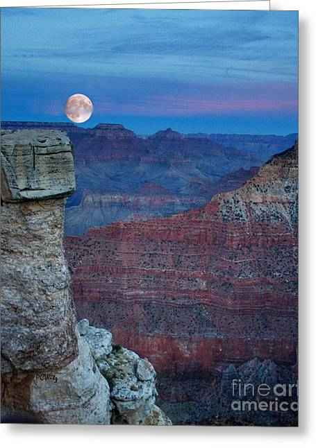Moon Rise Grand Canyon Greeting Card
