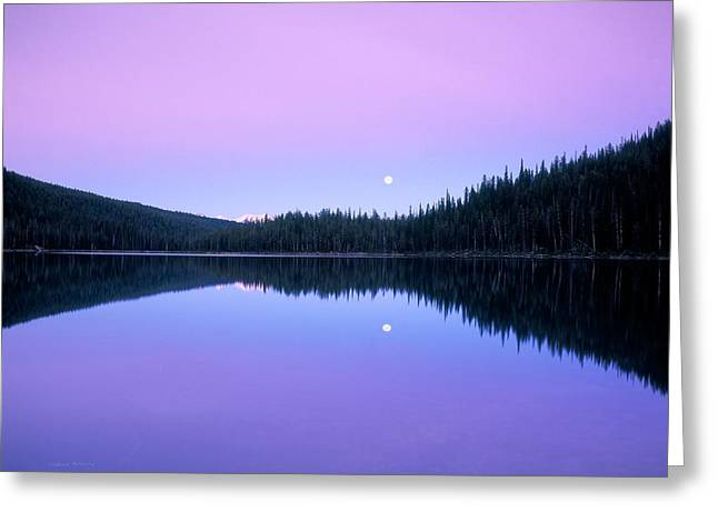Moon Rise Greeting Card by Leland D Howard