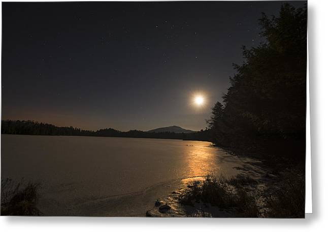 Moon Rise Greeting Card by Steve Auger