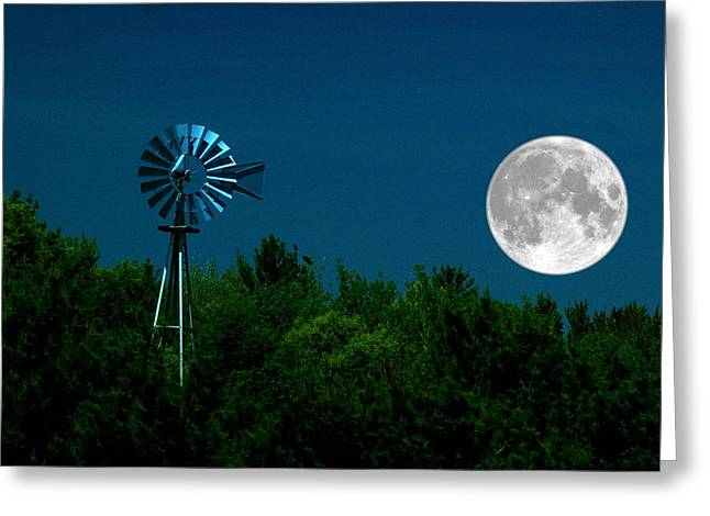 Moon Risen Greeting Card