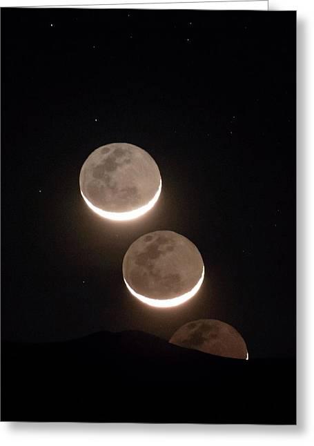 Moon Rising Of The Atacama Desert Greeting Card by Babak Tafreshi