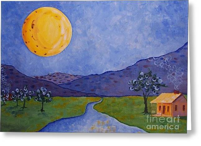 Moon River Greeting Card by Susan Williams