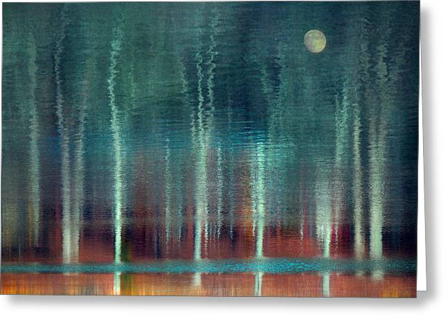 Moon River Greeting Card by William Schmid