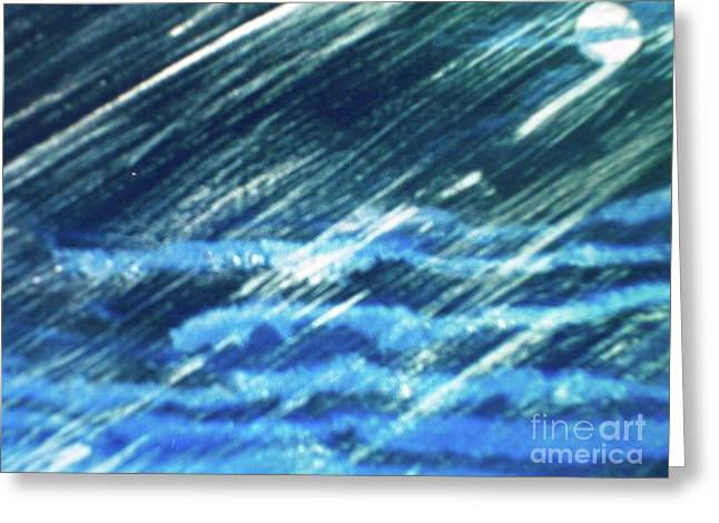 Greeting Card featuring the painting Moon Shining Through Rain by Pamela  Meredith