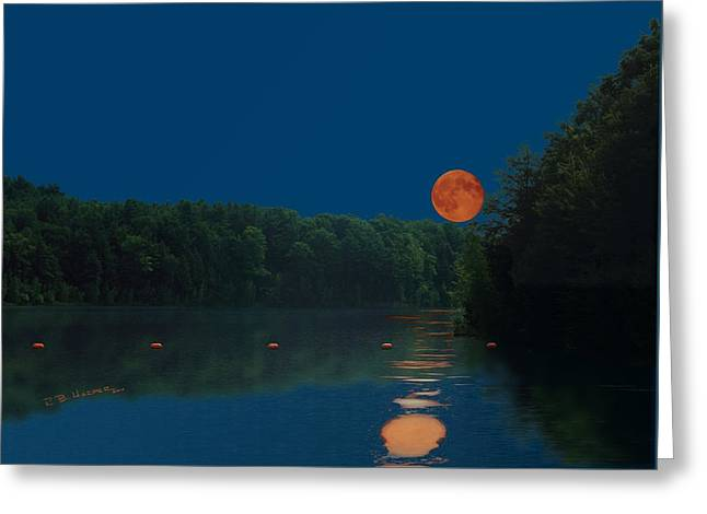 Greeting Card featuring the photograph Moon Shot by R B Harper