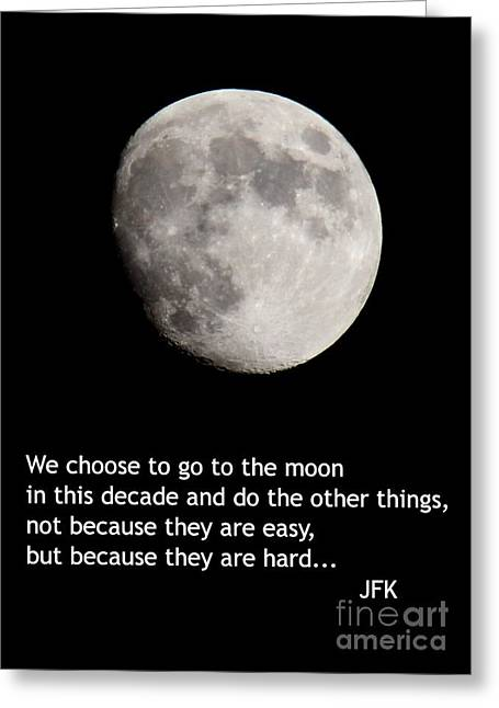 Moon Speech Greeting Card