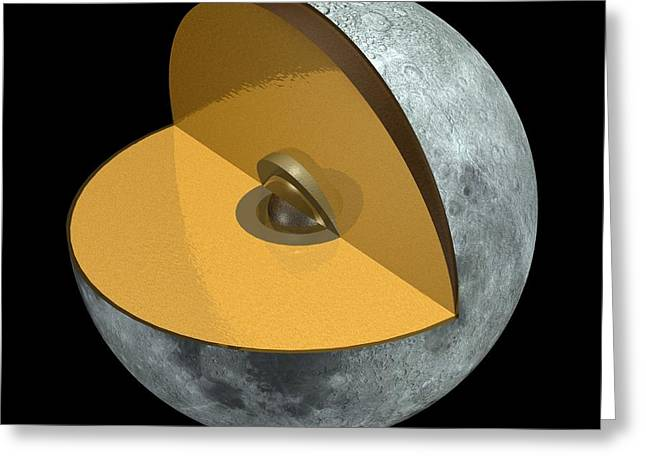 Moon Structure, Artwork Greeting Card by Carlos Clarivan