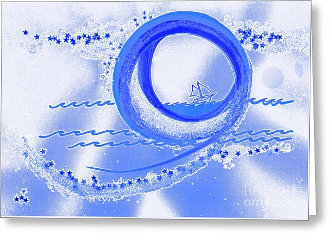 Moon Surfing 1 By Jrr Greeting Card