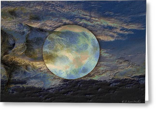 Moon Theatrics Greeting Card by J Larry Walker