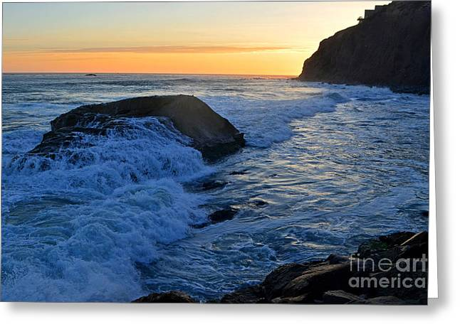 Moon Tides In Dana Point Greeting Card