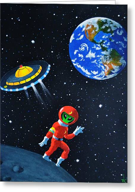 Moon Walk Greeting Card