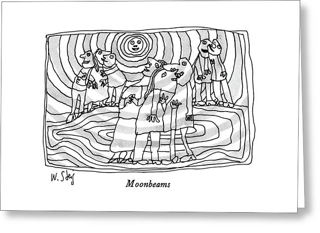 Moonbeams Greeting Card