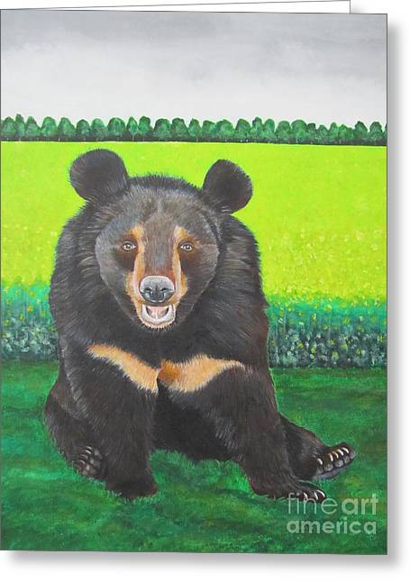 Moonbear Greeting Card by Jeepee Aero