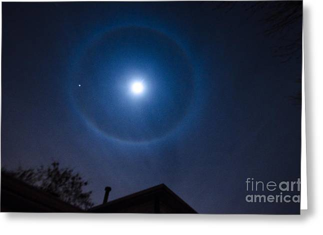 Moonbow Over Chicago 2 Greeting Card by Deborah Smolinske
