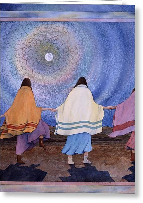 Moondance Greeting Card by Lynda Hoffman-Snodgrass