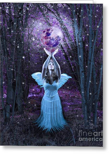 Moondance Greeting Card by Tammy Collins
