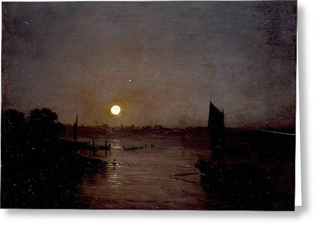 Moonlight A Study At Millbank 1797 Greeting Card by J M W Turner