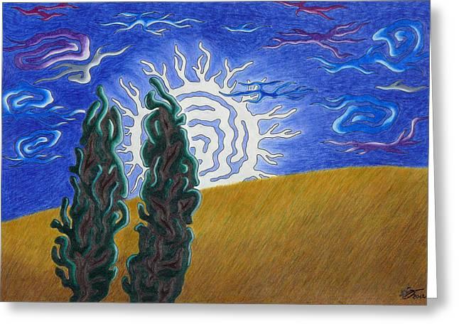 Moonlight Greeting Card by Andreas Berthold
