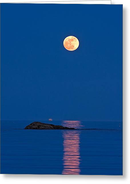 Moonlight Cruise Greeting Card