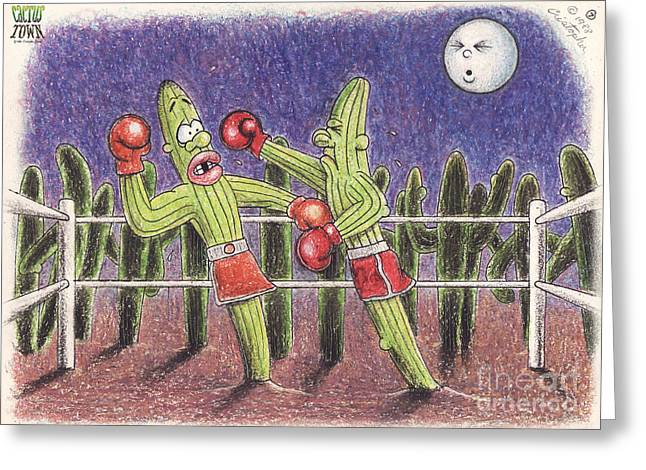 Moonlight Fight Greeting Card by Cristophers Dream Artistry