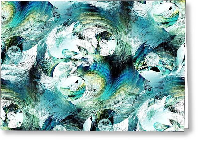 Moonlight Fish Greeting Card by Anastasiya Malakhova